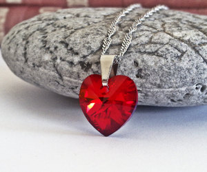 crystal heart, crystal jewelry, and etsy image