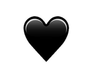 black, black heart, and editing image