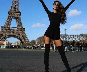 paris, fashion, and black image