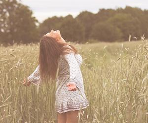 beautiful, dress, and field image