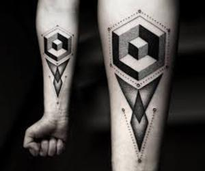 tattoo, geometric, and art image