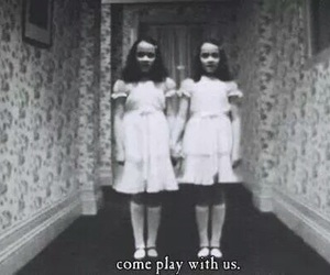 horror, The Shining, and black and white image