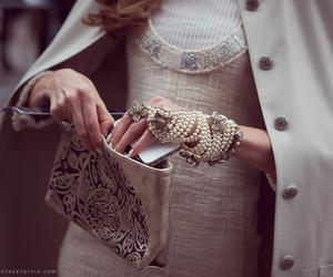 fashion, bag, and pearls image
