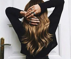 hair, hairstyle, and rings image