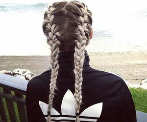 adidas, hair, and braid image