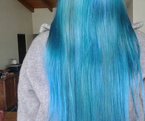 bluehair, hairstyle, and longhair image