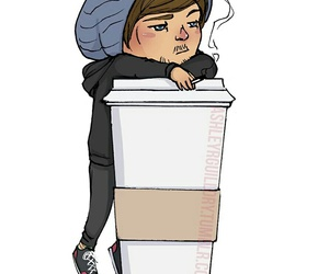 louis, tomlinson, and coffee image
