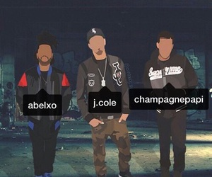 Drake, j cole, and the weeknd image