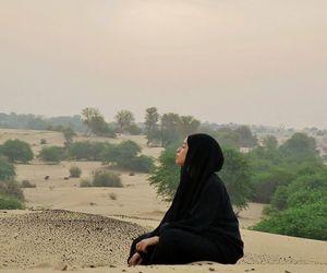 hijab, model, and muslim image