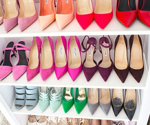 colors, high heels, and shoes image