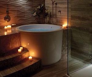 bathroom, bath, and beautiful image