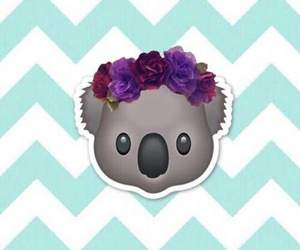 Koala, emoji, and wallpaper image