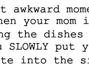 funny, dishes, and mom image