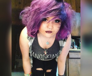 dyed hair, hair, and punk image