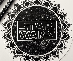 star wars, art, and black image