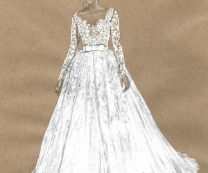 dress, art, and white image