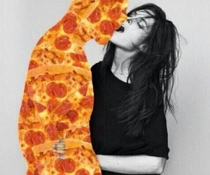 pizza, love, and kiss image