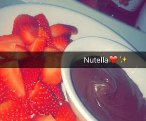 strawberry and nutella image