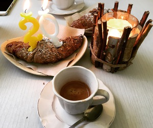 birthday, breakfast, and coffee image