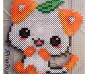 cats, oranges, and hama beads image