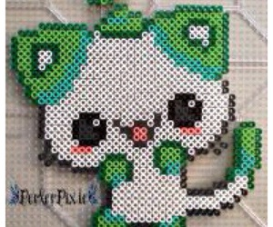 cats, kawaii, and hama beads image