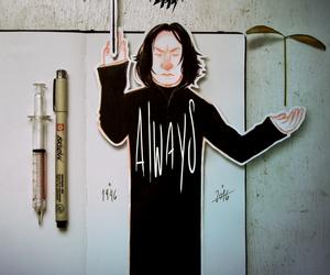 alan rickman, art, and harry potter image