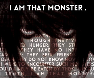 L, lawliet, and monsters image