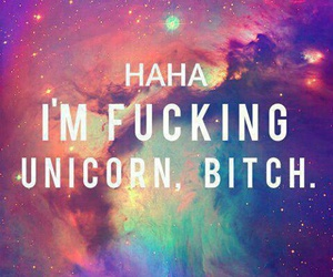 frase, unicorn, and funny image