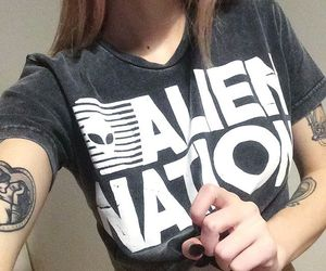tattoo, alien, and grunge image