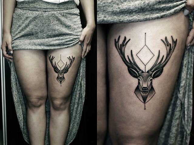 deer, spiritual, and tattoo image
