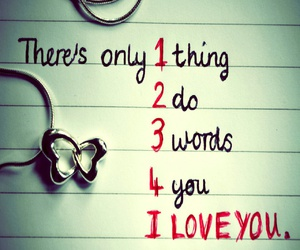 love, I Love You, and words image