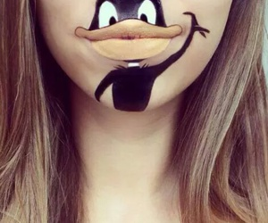 lips, makeup, and duck image