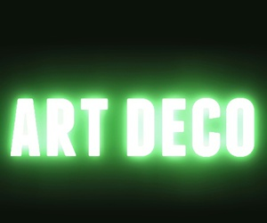 art deco, green, and neon image