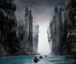 lord of the rings, LOTR, and argonath image