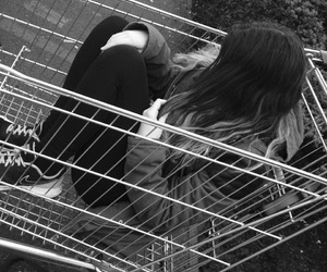 alternative, black and white, and cart image