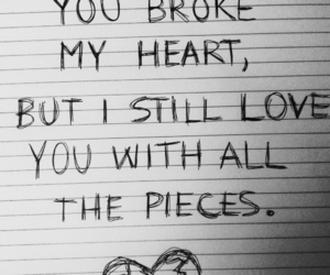 broken heart, dark, and drawing image