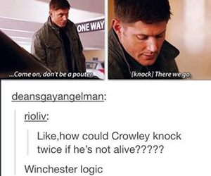 supernatural, crowley, and dean winchester image