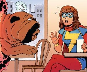 Marvel, ms marvel, and lockjaw image