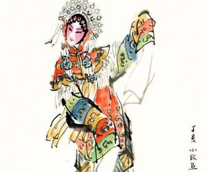 art, asian girl, and chinese image