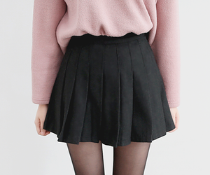 pink, black, and style image