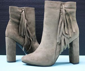 ankle boots, ankle booties, and fringe booties image
