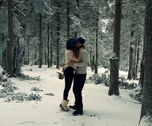 goals, kissing, and winter image