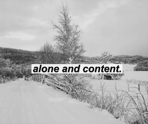 alone, b&w, and black and white image