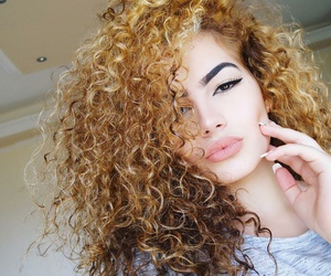 curly, girl, and beauty image