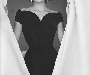 grace kelly, black and white, and vintage image