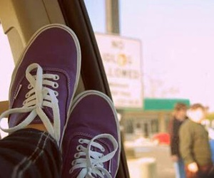vans, shoes, and purple image