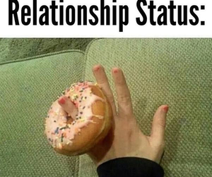 funny, donuts, and Relationship image
