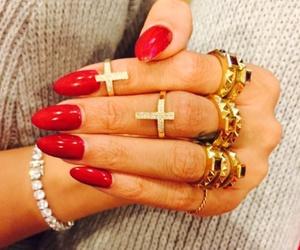 nails, rihanna, and red image