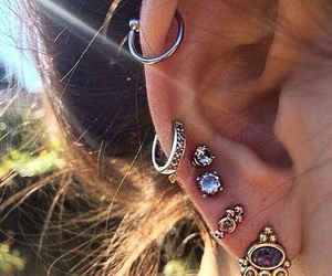 girl, piercing, and stylé image