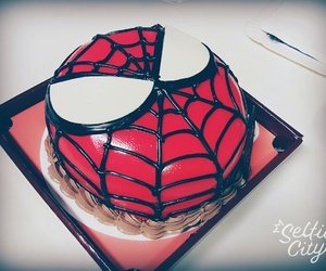 birthday, cake, and spiderman image